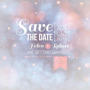 Halation Wedding Invitation Background Vector