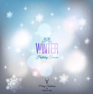 halation winter christmas vector art background
