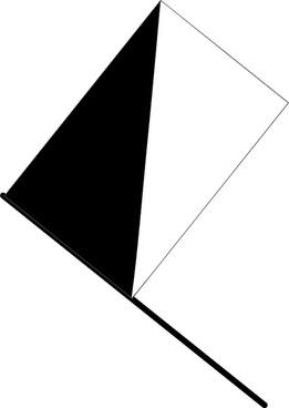 Half black flag