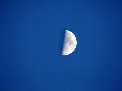 half moon night sky