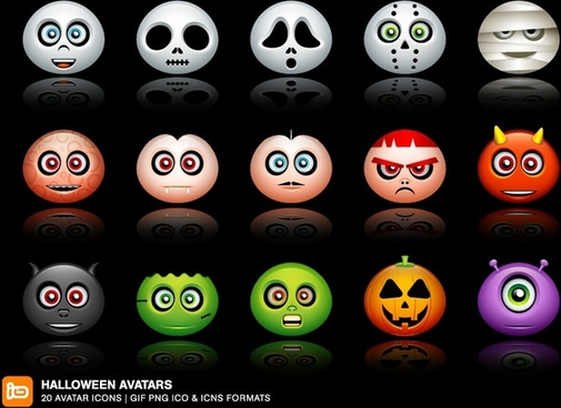 Halloween Avatars Icons icons pack