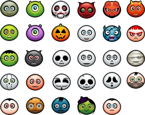Halloween Avatars icons pack