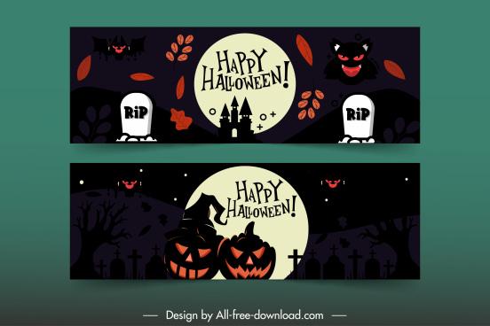 halloween background templates dark horror decor