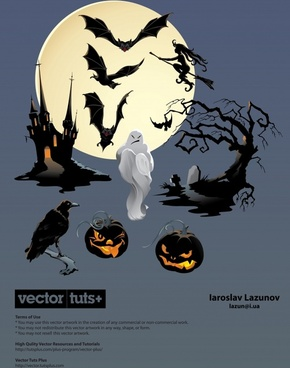 halloween bat witch vector