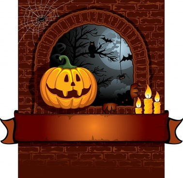 halloween cartoon background vector