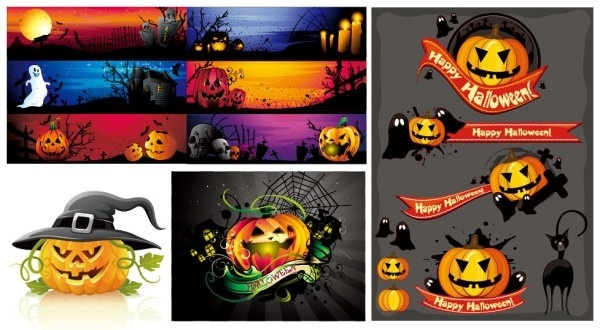 halloween cartoon images vector