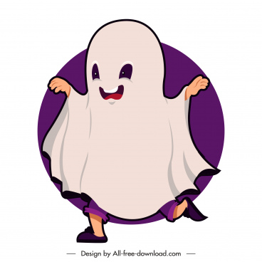 halloween character icon ghost costume sketch