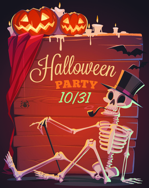 halloween creative background vector
