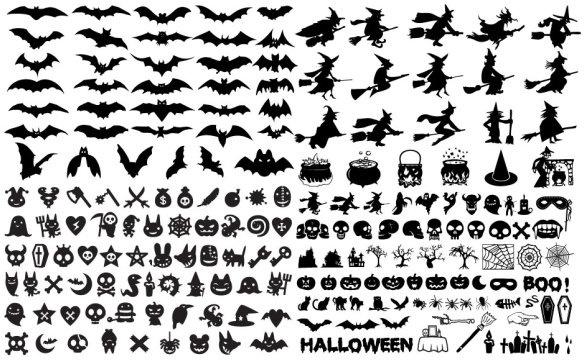 halloween element vector
