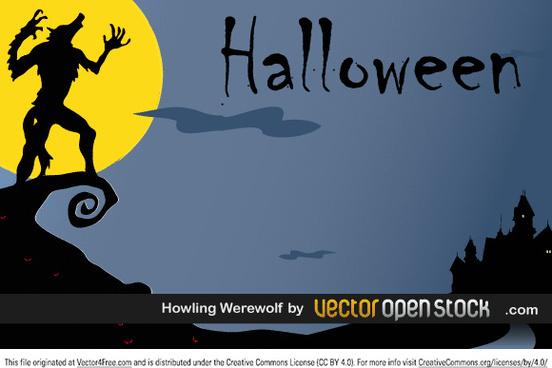 halloween howling werewolf