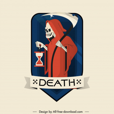 halloween label template horrible death sketch