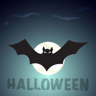 halloween night party bat