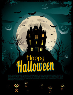 halloween night vector art background