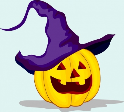 halloween object funny pumpkin face icon