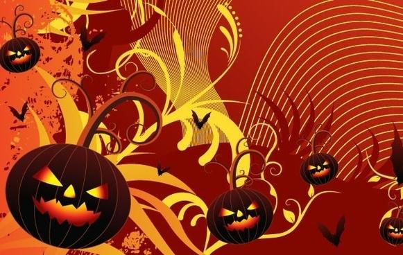 Halloween Party Card Vector