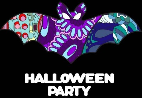 halloween party ghost ornaments vector