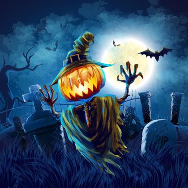 halloween party night background vector
