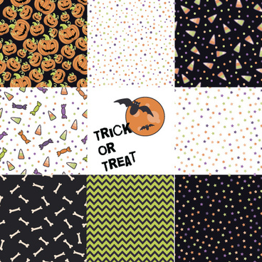 halloween pattern vector seamless