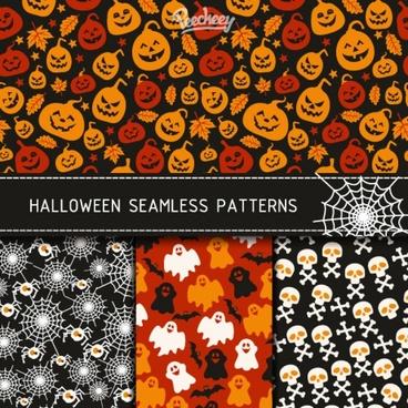 halloween patterns illustration