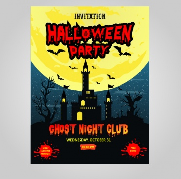 halloween poster and invitation
