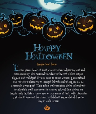halloween posters beautiful background 02 vector
