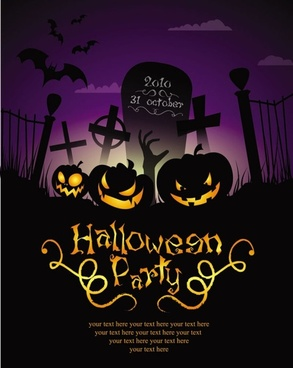 halloween posters beautiful background 04 vector