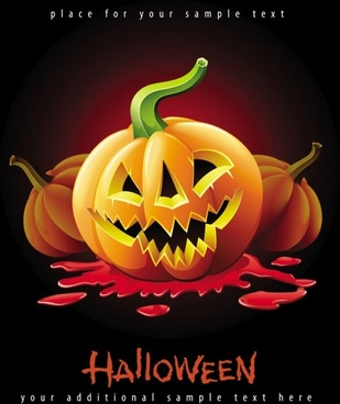 halloween posters beautiful background 05 vector