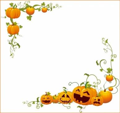 Halloween Pumpkin  Corner frame