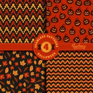 halloween seamless pattern illustratios