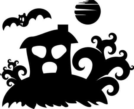 Halloween - spooky house silhouette