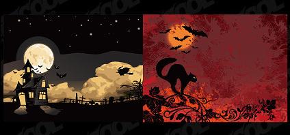 Halloween vector illustrations material