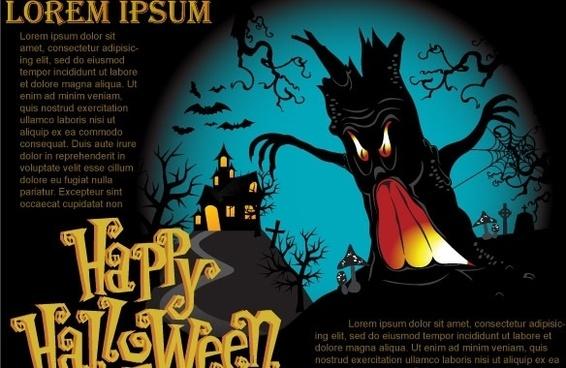 Halloween Vector Poster
