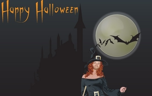 Halloween witch free vector