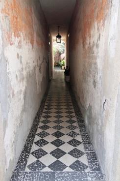 hallway alley corridor