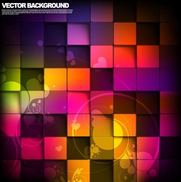 halo background vector colorful box