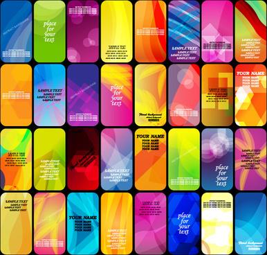 halo card background set art vector