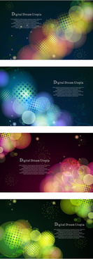 halo circle background vector