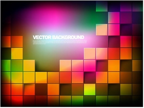 halo colorful vector background colorful box