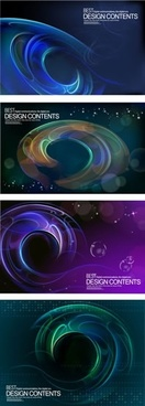 decorative background templates dark light motion effect