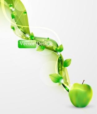 halo leaf background 05 vector
