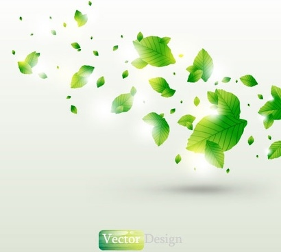halo leaves background 02 vector