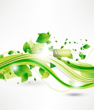 halo leaves background 04 vector