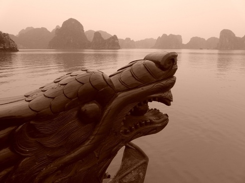 halong bay vietnam dragon