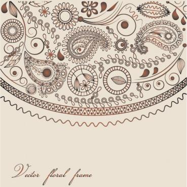 ham decorative pattern vetcor free cdr vector