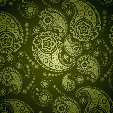 decorative pattern dark green abstract flat decor