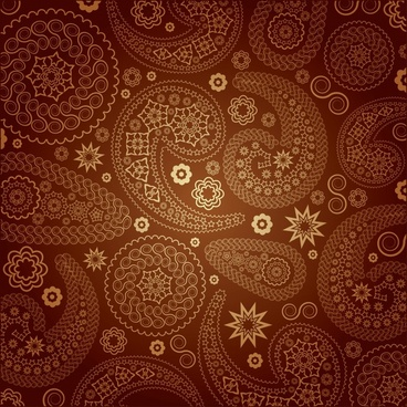 decorative pattern template dark flat classical brown decor