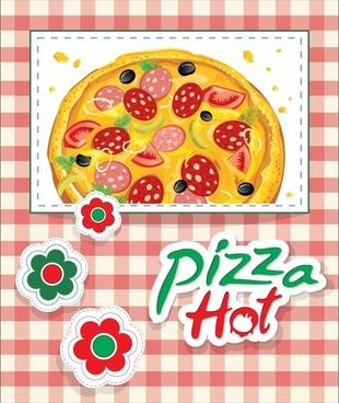 ham pizza vector