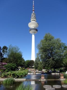 hamburg tv tower planned un blomen