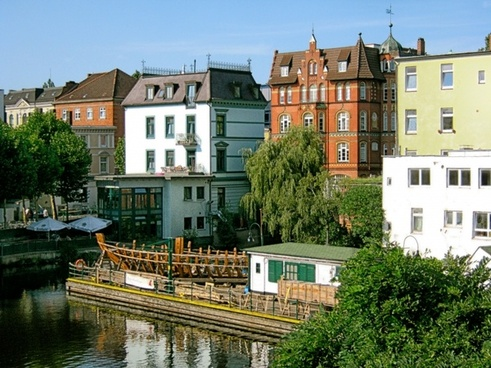 hamburg-bergdorf germany buildings