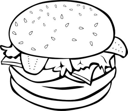 Hamburger (b And W) clip art